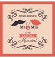 wedding card vintage lettering design vector image