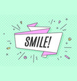 ribbon banner with text smile vector image