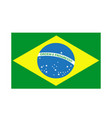 brazil flag icon isolated on white background vector image
