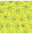 Cartoon kawaii weed seamless pattern green vector image