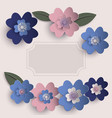 floral paper art card vector image