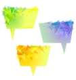 yellow speech bubbles with triangles vector image