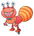 A smiling monster golfing vector image vector image