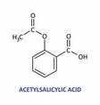 acetylsalicylic acid formula vector image vector image