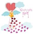 Angel valentine vector image