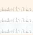 ashgabat hand drawn skyline vector image vector image