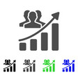 audience growth chart icon vector image