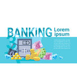banking money savings business finance banner vector image