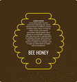 Bee products vector image vector image