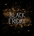 black friday shopping message holiday sale flyer vector image vector image