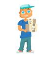 Cartoon child design vector image vector image