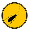 Cockroach button vector image vector image