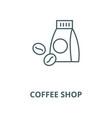 coffee shop line icon coffee shop outline vector image