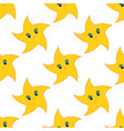 colorful seamless pattern of cute yellow stars on vector image