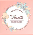 delicate round flower shape vector image