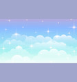 dreamy magical clouds background with stars vector image