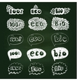 Ecology doodles icon set vector image vector image
