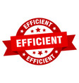 efficient ribbon efficient round red sign vector image vector image