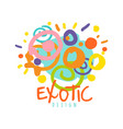 exotic logo design tropical summer vacation vector image vector image