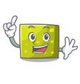 finger square mascot cartoon style vector image