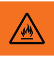 Flammable icon vector image vector image