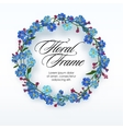 Floral wreath with spring flowers vector image vector image