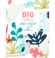 flower invite template vector image vector image
