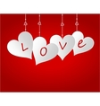 Four hearts on a gradient background Cut out the vector image vector image