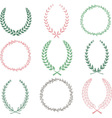 Hand Drawn Laurel Wreaths Collections vector image