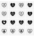 Heart icons vector image vector image