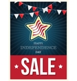 Independence day American signs with flag stripes vector image