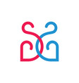 letters ss linked curves line loop design logo vector image vector image