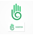 logo or icon hand with a spiral vector image vector image