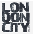 London city Typography design vector image vector image