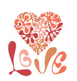 love composition with heart vector image vector image