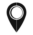 map pin icon simple style vector image vector image