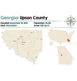 map upson county in georgia vector image vector image