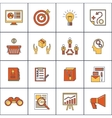 Marketers flat line icons set vector image vector image