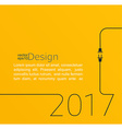 New year 2017 plug and socket vector image