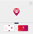 owl concept creative logo template and business vector image vector image