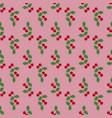 pair cherries seamless pattern on pink vector image vector image