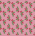 pair of cherries seamless pattern on pink vector image