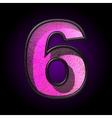 pink plastic figure 6 vector image vector image