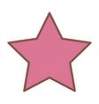 pink star funny comic cartoon decoration icon vector image vector image