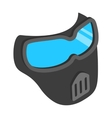 Protective mask 3d isometric icon vector image vector image