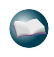 realistic open empty violet book icon or button vector image