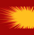 red yellow explosion comic vector image vector image