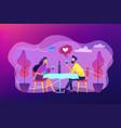 romantic date concept vector image