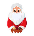 santa claus character offering cookies vector image