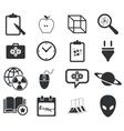 Science icon set 3 simple vector image